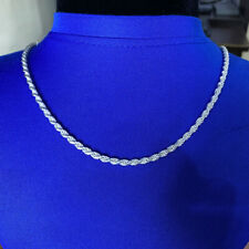 925 Sterling Silver 3.5mm 20 Inch Rope Chain Necklace Lobster Clasp For Men's
