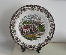 """Vintage The Huntsmen and Dogs by Myott Hand Engraved 10"""" plate Free Delivery"""