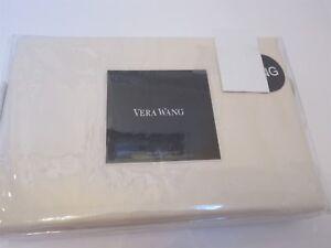 Vera Wang Woven Rib Ivory Tailored King Bedskirt $240