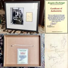"""Signed Album Page of All 5 Rolling Stones On Steps of Tin Pan Alley Club 20""""x17"""""""
