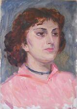 PORTRAIT 1950s,Armenia,Soviet Impressionism,Painting,Armenian Art,HARUTYUNYAN