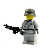 Custom WW2 Soldier 2.0 grey Figurine BAR printed on from LEGO and Brickarms