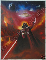 "Star Wars Oil Painting Darth Vader Portrait Hand-Painted Art on Canvas 24""x36"""