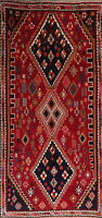 BLACK FRIDAY Geometric Abadeh Oriental Area Rug Wool Handmade Tribal Carpet 5x9