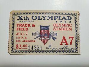 Orig 1932 Xth Olympics Ticket Track & Field Olympic Stadium Gen Admin 14257 NR