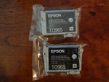 LOT OF 2 NEW Genuine Epson 96 T0965 LIGHT CYAN R2880 printer ink T096520