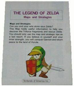 Legend of Zelda Maps & Strategies Booklet Original Nintendo NES Manual