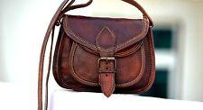 Top Real Genuine Leather Vintage Messenger ladies Shoulder Hippie Tote Bag