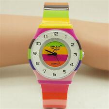 Children Stripe Wristwatch Mini Size Women Waterproof Watch Slim Dial Watches