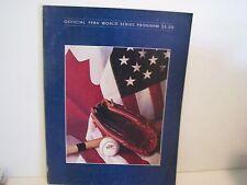 1986 WORLD SERIES PROGRAM METS / RED SOX