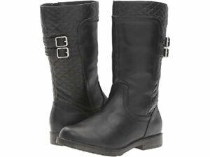 NIB Girls Stride Rite Boots Sage Buckle 8.5 9 9.5 W