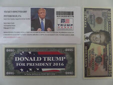 DONALD TRUMP/PENCE, 8-9-2016, HEINZ CENTER, PITTSBURGH, PA, RALLY EVENT TICKET