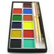 Gekleurde Schilderij Set Japanse Penseel Sumiinkt - 12 Kleuren 3 Borstels
