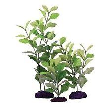 Exotic Plant Selection 25-35cm Mixed Plastic & Silk Aquarium Plants Pack of 3