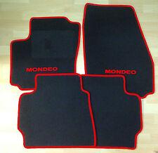 Autoteppich Fußmatten  für Ford Mondeo 2000' - 2006' schwarz rot Neu 4teilig