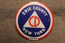 Rare Original Korean War U.S. Home Front Erie County NY CD Executive Button 50 d