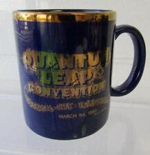 Vintage 1992 Rare Quantum Leap Convention Universal City Blue/Gold Coffee Mug