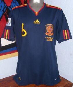 ADIDAS SPAIN AWAY WC2010 FINAL ANDRES INIESTA XL ORIGINAL JERSEY SHIRT