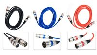 Microphone Lead Mic Cable XLR Patch Balanced Male to Female Plugs Speaker Pro