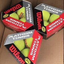 New Old Stock 9 Wilson Platform Tennis Balls - 3 Sealed Packs - Free Shipping