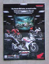 HONDA CBR500R CBR 500 CB500 Genuine Magazine Page Sales Advertisement Brochure