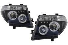 Angel Eyes Headlights for NISSAN Navara D40 04-09 Pathfinder R51 05-08 in black