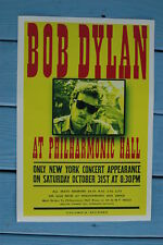 Bob Dylan Concert Tour Poster 1964 New York at Philharmonic Hall