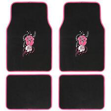 Pink Hawaiian Flower Auto Carpet Floor Mats For Car SUV Auto (4 Piece)