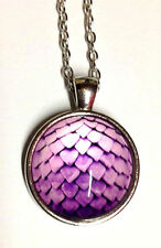 X1 Purple Dragon Egg Pendant Necklace