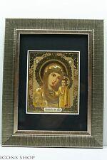 russian gold christian icon lady of kazan казанская богоматерь икона