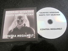 "VAMPIRE WEEKEND MEETS TOY SELECTAH ""CONTRA MEGAMELT"" PROMO CD"