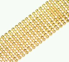 18.72GM 18K SOLID YELLOW GOLD VINTAGE CHAIN LINK ENGAGEMENT NECKLACE NO SCRAP