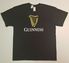 Guinness Beer Logo Black T-Shirt T Shirt Size Large NEW SHIPS FAST FREE SHIPPING