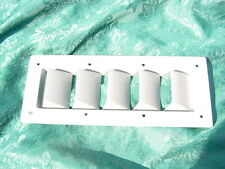 """SEA RAY BOAT GREY SIDE HULL VENT LOUVER 14"""" BOAT NEW 14-1/8"""" X 5-5/8"""" others too"""