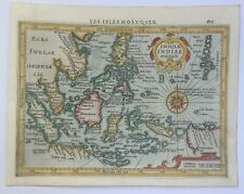 EAST INDIES 1613 MERCATOR HONDIUS ATLAS MINOR NICE UNUSUAL ANTIQUE MAP