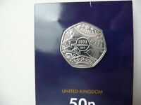 2021 Decimal Day 50p BU Coin Brilliant Uncirculated Certified Pack In Hand New