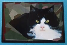ART CARD - BLACK AND WITE CAT  - LIMITED EDITION PRINT-50-R. BOZZETTI