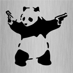 Banksy Panda Sticker Street Art Vinyl Window Decal 135mm x 130mm