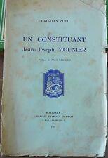 Christian Puel, Un constituant, Jean-Joseph Mounier, révolution française