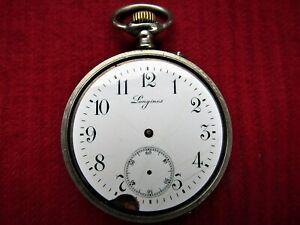 Longines EFCO Taschen Uhr ,Werk 42 mm  läuft Glas und Zeiger fehlen