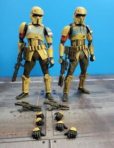 2x SHORETROOPER ROGUE ONE SH FIGUARTS  STAR WARS (one professionally weathered)