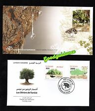 2017- Greece- Tunisia- Olive trees from Euromed- FDC