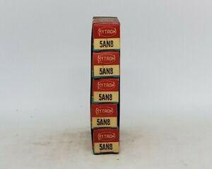 5AN8 NOS ( 5 Tubes ) Hytron 6AN8 6AN8A 5AN8A