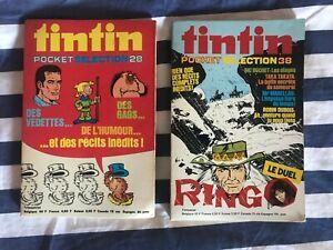 TINTIN POCKET SELECTION - N° 28 ET 38 - 1975 - R. HOCHET - CUBITUS - M. VAILLANT
