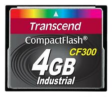 4GB Transcend CF 300X Speed SLC Industrial CompactFlash Memory Card