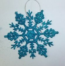 Christmas Tree Decorations 6 - Snowflakes Xmas Garland Star Hanging Snowflake 3 X Tartan