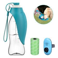 Portable Dog Cat Water Bottle Pet Dispenser Travel Outdoor Drinking Bowl Feeder