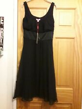 MONSOON KIKO Black Silk Satin Cocktail Evening Party Dress ♡ Size 10 ♡ BNWT £80