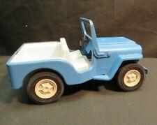 Vintage 1970s Pressed Steel Tonka Blue Jeep Jeepster w/Fold Down Windshield