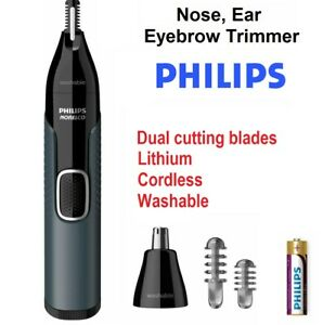 PHILIPS Lithium Nose Ear Hair Shaver Grooming Kit Washable Cordless Premium NEW